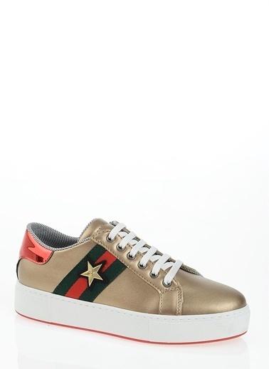 Derigo Derigo 6378 Yıldız Kadın Casuel Ayakkabı Altın
